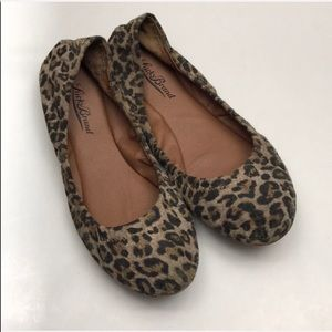 Lucky Brand Leopard Print Leather Ballet Flats